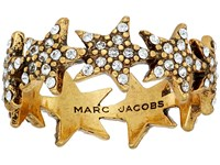 Marc Jacobs Charms Celestial Twinkle Star Ring Crystal Antique Gold Ring Clear