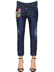 Dsquared Red Spots Cool Girl Cropped Denim Jeans