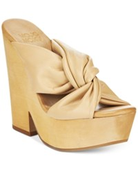 Mojo Moxy Mally Wooden Platform Sandals Women's Shoes Natural