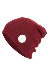 Converse Slouchy Rib Knit Beanie Converse Red Navy