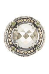 Phillip Gavriel 18K Yellow Gold And Sterling Silver Oval Green Amethyst Peridot Ring Multi