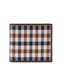 Aquascutum London Club Check Wallet With Coin Purse Brown