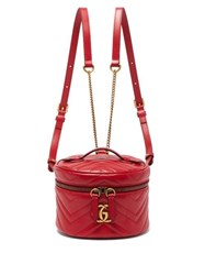 Gucci Gg Marmont Mini Leather Backpack Red