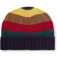 Etro Striped Ribbed Cashmere Beanie Multi