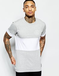 Friend Or Faux Cut And Sew Logo T Shirt Grey