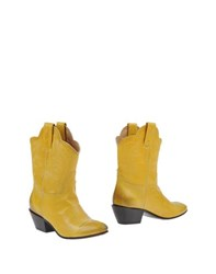 Rodolfo Carusi Footwear Ankle Boots Women Yellow