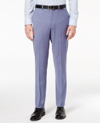 Dkny Men's Modern Fit Stretch Blue Suit Pants Navy