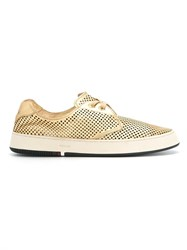 Osklen Panelled Sneakers Nude Neutrals