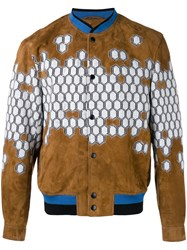 Lanvin Havana Bomber Jacket Brown