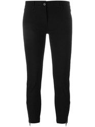 Ann Demeulemeester Cropped Skinny Trousers Black