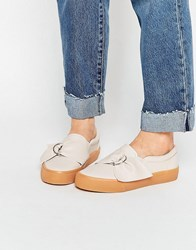 Asos Digger D Ring Trainers Nude Beige