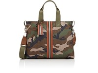 Valentino Men's Camouflage Tote Bag Dark Green
