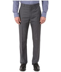 Perry Ellis Windowpane Performance Portfolio Pant Charcoal Men's Dress Pants Gray