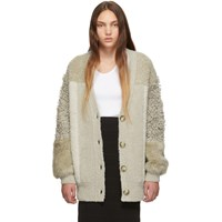 Stella Mccartney Beige Fur Free Fur Cardigan