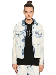 Mcq By Alexander Mcqueen Bleached Stretch Denim Effect Jacket