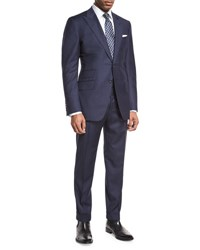Tom Ford O'connor Base Windowpane Two Piece Suit Navy Gray