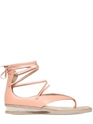Stella Mccartney 20Mm Faux Leather Lace Up Sandals