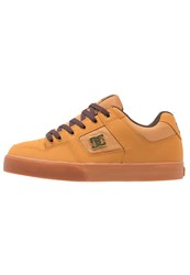 Dc Shoes Pure Se Skater Shoes Wheat Dark Chocolate Tan