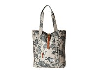 Herschel Market Pelican Palm Tan Leather Tote Handbags Multi