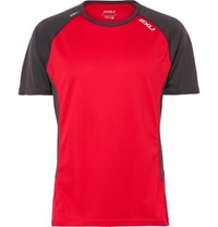 2Xu Ice X Stretch Jersey T Shirt Red