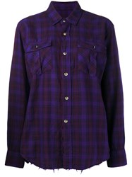Department 5 Classic Plaid Shirt Pink And Purple