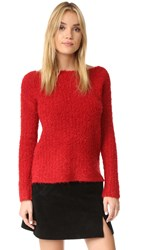 Atm Anthony Thomas Melillo Cozy Open Neck Pullover Holly Berry
