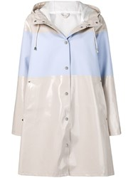 Stutterheim Mosebacke Stripe Raincoat Neutrals