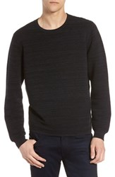 Calibrate Ottoman Crewneck Sweater Navy Night Spacedye
