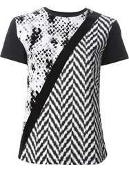 Emanuel Ungaro Mixed Print T Shirt Black