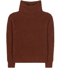 Loro Piana Davenport Cashmere Turtleneck Sweater Brown