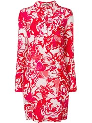 Roberto Cavalli Wrap Around Midi Dress Red