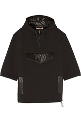 Christopher Kane Shell Trimmed Neoprene Hooded Top Black