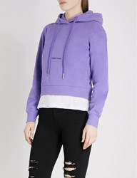 Moandco. Damn Young Cotton Blend Hoody Aster Purple