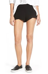 Junior Women's Rvca 'Quick Peek' Knit Tulip Shorts Black
