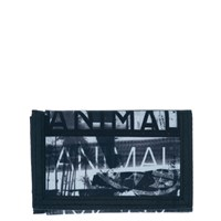 Animal 3 Leaf Wallet Black