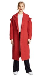 Mother Of Pearl Webb Coat Red