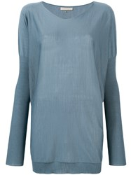Mantu Boxy Knitted Top Blue