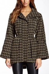 Fillmore Houndstooth Print Water Repellent Anorak Jacket Gray
