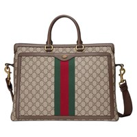 Gucci Ophidia Gg Briefcase Brown