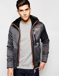 Superdry Ascent Fleece Lined Jacket With Hood Blackmarl