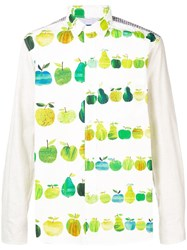 Junya Watanabe Man Apple Print Shirt White