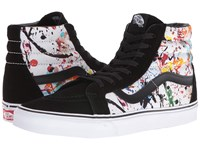 Vans Sk8 Hi Reissue Paint Splatter Multi True White Skate Shoes Black