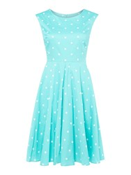 Joules Fit And Flare Dress Green
