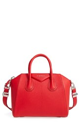 Givenchy 'Small Antigona' Leather Satchel Red Medium Red