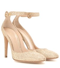 Gianvito Rossi Virna Glitter Pumps Gold