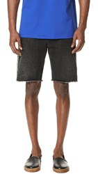 Msgm Cutoff Jean Shorts Black