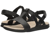 Hush Puppies Talia Aida Black Leather Women's Sandals