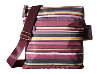 Tumi Voyageur Calera Crossbody Plum Stripe Cross Body Handbags Purple