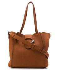Tod's Ring Strap Tote Bag Brown