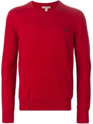 Burberry Brit Crew Neck Sweater Red